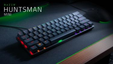 【Razer Huntsman Mini】TKLでコンパクトなゲーミングキーボードを発表。クリッキーまたはリニアスイッチから選べる