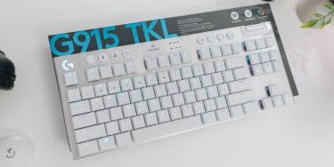 Logicool G【G913 TKL】新色ホワイトを発表、ロープロファイルで速度・精度が優れた薄型ゲーミングキーボード【ロジクール】