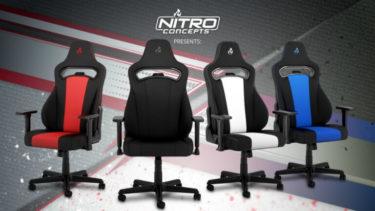 Nitro Concepts「E250」肌触りのよいファブリック素材が特徴のゲーミングチェアを発売