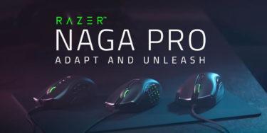 Razer「Naga Pro」交換可能な3つのサイドプレートを備えたワイヤレスマウスを発表。FPSやMMOなど全てのゲームジャンルに対応