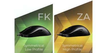 BenQ ZOWIE「FK-B」「ZA-B」左右対称型ゲーミングマウスを発売。薄型・厚型と幅広いラインナップ