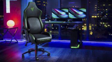 Razer「Iskur」背中~腰に掛けて「大型クッション」を採用した初のゲーミングチェアを発表
