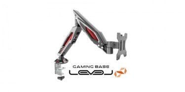 LEVEL∞「LEV-ARM02」大型スプリングにより軽い力で位置調整できるゲーミングモニターアームを発表